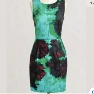 J Crew Hothouse Floral Pleated Shift Dress
